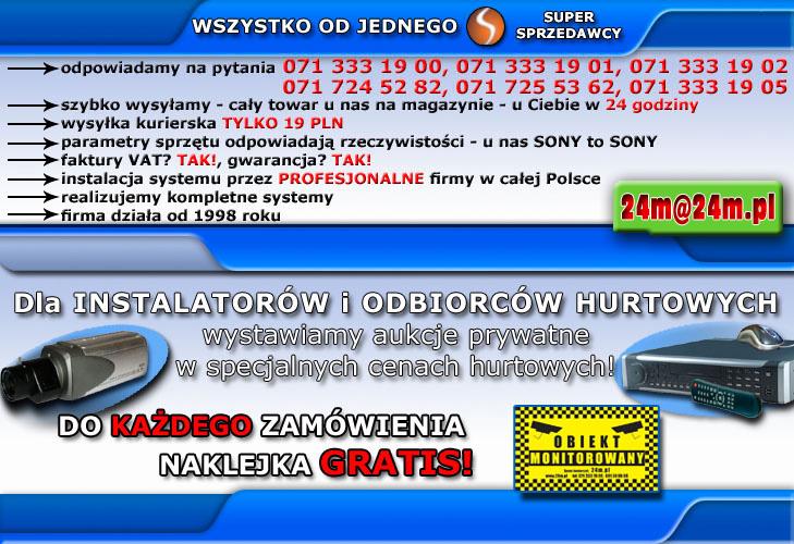 UPRZEMIE PROSIMY O KONTAKT TELEFONICZNY 071 <span class=hidden_cl>[zasłonięte]</span> 00 do 05, JESLI ZDJECIA SA NIEWIDOCZNE, TOWAR OCZYWISCIE JEST DOSTEPNY, JEDNAK WYSTAPILY PROBLEMY Z SERWEREM NA KTORYM ZNAJDUJA SIE ZDJECIA, WYBRANE ZDJECIA MOZNA ZOBACZYC NA DOLE TEJ STRONY.
